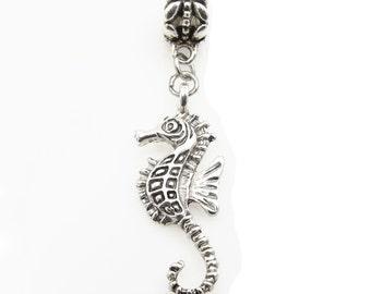 Seahorse European Dangle Charm Bead Sea Horse fits Pandora and Snake Chain Bracelets