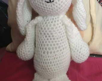 White crochet rabbit