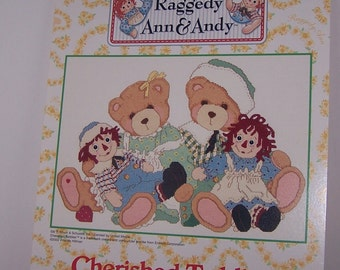 Raggedy Ann and Andy Cherished Teddies A Hug Is Worth A Thousand Words Counted Cross Stitch Pattern Chart Designs By Gloria & Pat RA-CT1