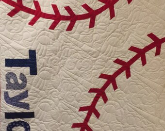 Baseball Quilt - twin size
