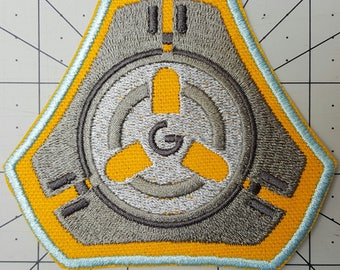 Pulse Bomb Tracer Overwatch Inspired Embroidered Patch- Cosplay Costume Tracer Power Bomb Patch - Sew-on or Iron-On patch - w3.6in x h3.3in