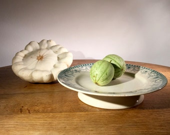 Old french faience compotier / fruit dish, from Saint Amand & Hamage, France