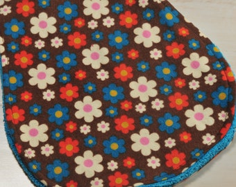 Floral Baby Girl Burp Cloth