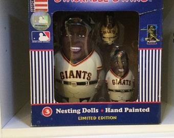 Gary Bonds stackable stars nesting dolls limited edition Coopersburg Sports San Francisco Giants
