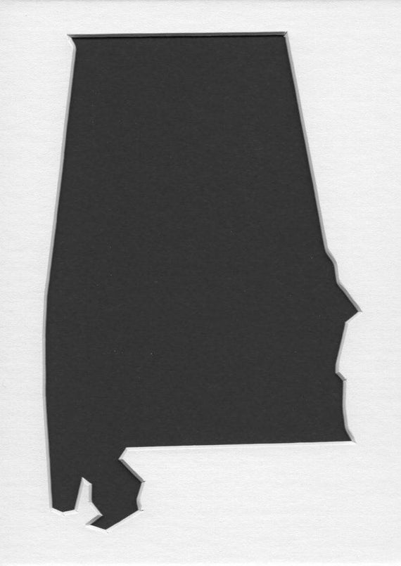 Pack Of 3 Alabama State Stencils Made From 4 Ply Mat
