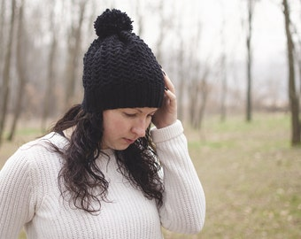 "Lace crochet Hat-mod. ""Snowdrops"" color black"
