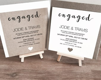 Personlised Engagement Invitations & Envelope