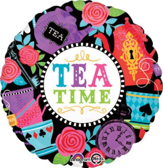 Tea Time Mylar Balloon