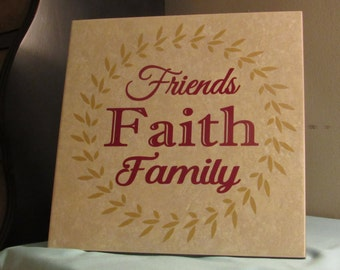12x12 Decorative Tile - Friends Faith Family