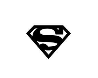 Superman Vinyl Decal - Superman Decal, Wall Decal, Vinyl Decal, Laptop Decal, Marvel Comics
