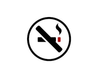 No Smoking Decal - Business Decal / No Smoking Sign / Smoking Sign