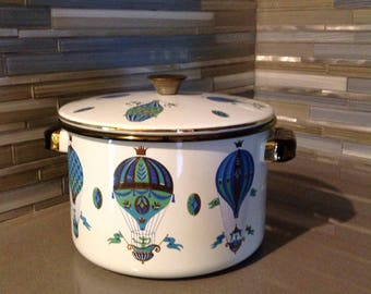 Georges Briard Fancy Free Hot Air Balloon Stock Pot