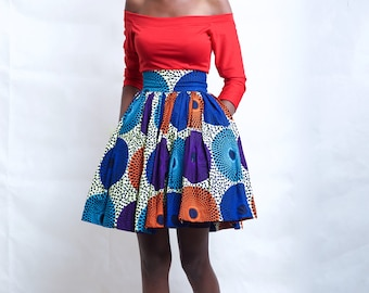 African Print Pocket gather Skirt, african clothing, african dress, the african shop, african wedding dress, african outfit
