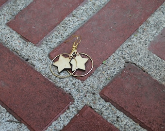 Gold And Wooden Stars