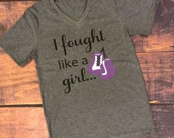 I fought like a girl and won, Fight like a girl, Hodgkins lymphoma, survivor, cancer survivor,
