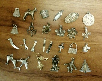 Lot of Mixed Vintage Sterling Charms