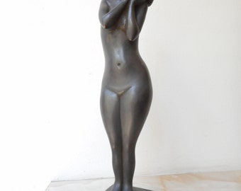 Home sculpture, Мodern sculpture, Bronze sculpture, Bronze statue of Naked girl  , Limited edition, Small sculptural plastic