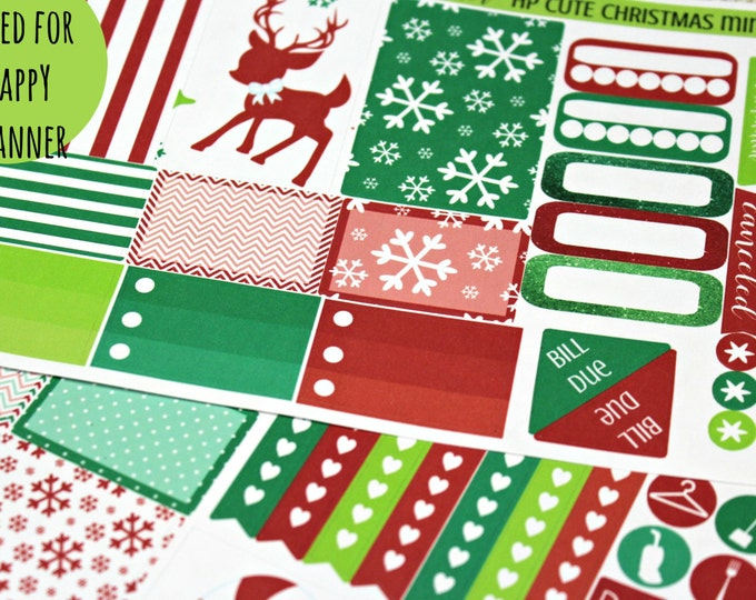 Happy Planner Stickers -  Christmas stickers - Weekly Planner - Erin Condren Life Planner -  Functional stickers - Cute Christmas Stickers