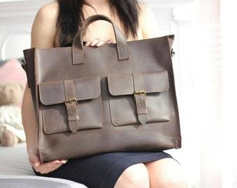 Leather laptop bag, Leather handbag, mens bag, women  leather bag, leather satchel, leather , women handbag, leather messenger  bag