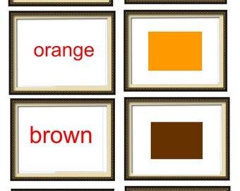 A4 Alphabet  Flash Cards. Shapes Flash Cards. Baby learning cards. Glenn Doman Flashcards. Educational fun flashcards. colours Flashcards