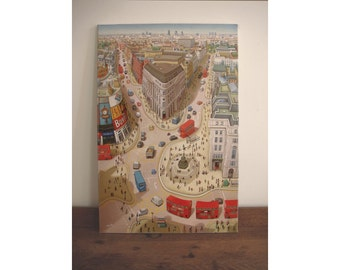 London print - Canvas Piccadilly Circus Print - limited edition giclee print - London art