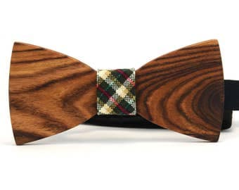 """Wooden bow tie """"Mars"""",wooden bowtie,red wood bow tie,bow tie fun,bow tie party,wood bow tie,bowtie birthday,striped bow tie,wood bowtie"""