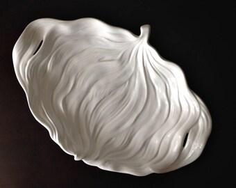 Midcentury Portuguese Ceramic Leaf BORDALLO PINHEIRO - 50's