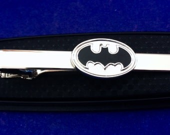 Batman tie clip gift idea tie clasp~Handmade in the USA~FAST Shipping from the USA