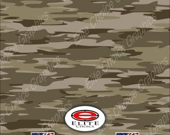 "Traditional Desert Tree Camo 15""x52"" or 24""x52"" Truck/Pattern Print Tree Real Camouflage Sticker Roll or Sheet"