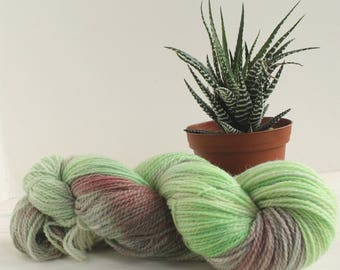 Baby Groot - Guardians of the Galaxy themed hand dyed yarn - 100% organic yarn - fingering weight - 100g skein