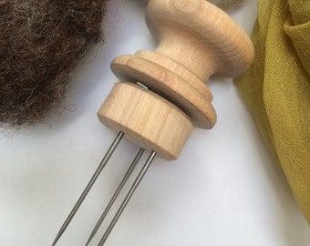 Wooden Multi-Needle Felting Tool - 1 to 6 felting needles