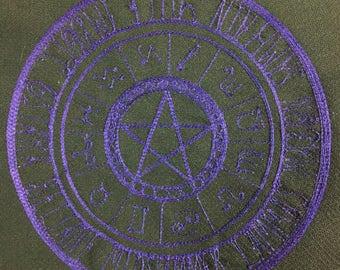 Zodiac Altar Cloth in Purple