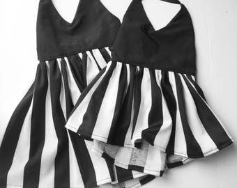 Black and white stripe dress or top