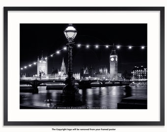 London Westminster At Night Poster