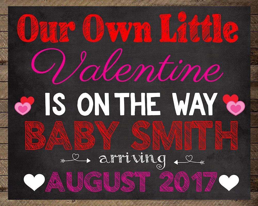 Valentine\'s Pregnancy Announcement, Valentine Baby, announcement ...