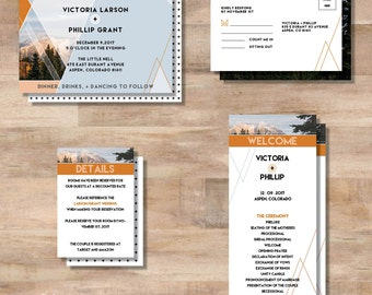 V+P Wedding Invitation Suite