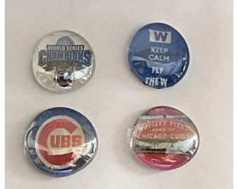 Chicago Cubs World Series Champions - Magnets - Fly the W - Set of 4