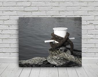 harbour mooring bollard photo, 20x16in, photo digital download,photography,download,print,wall art,photo, digital image,canvas,print,