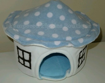 Blue Toadstool Pet HOUSE Guinea PIG Bed