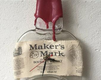 Maker's Mark Bourbon Whiskey bottle clock