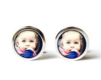 Photo Cufflinks, Unisex Cufflinks, Custom Cufflinks, Wedding Cufflinks, Handmade cufflinks, Customized Cufflinks, Your own Photo Cufflinks
