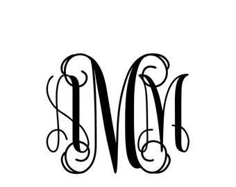 Personalized Monogram, Monogram Decal, Vinyl Monogram Sticker ,Yeti Deca ,Yeti Monogram, Laptop Decal, Computer Decal, iPhone Case Monogram