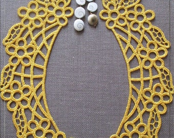 Collar_tatting - Machine Embroidery Design