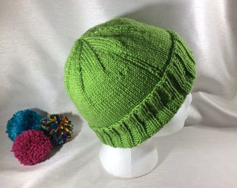 Knitted beanie, brimmed hat, vegan hat, knitted hat, vegan fashion, men's hat, women's hat, adult hat