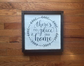 There's no place like home wood sign/ home wood decor