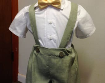 Green Ring Bearer outfit in size 2T,3T,4T. Use for wedding,or special occasion