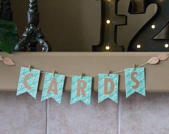 SALE Cards Banner. Rustic Wedding Decor. Shabby Chic Wedding Decor. Registration Table Banner. Gift Table Banner. Cards Gift Table Banner