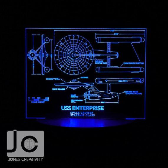 star trek uss enterprise ncc 1701 blueprint design laser. Black Bedroom Furniture Sets. Home Design Ideas
