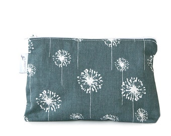 Ready to ship - Pouch wet bag with zipper and PUL liner great for cloth pads - wish print