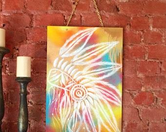 Rainbow Chief Timber Original Artwork